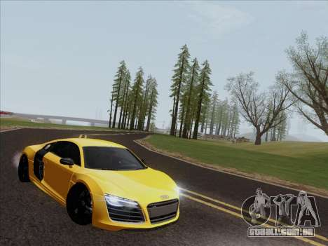 Audi R8 V10 Plus para GTA San Andreas esquerda vista