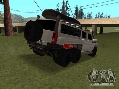 Hummer H3 6x6 para GTA San Andreas vista direita