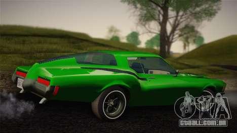 Buick Riviera 1972 Carbine Version para GTA San Andreas traseira esquerda vista