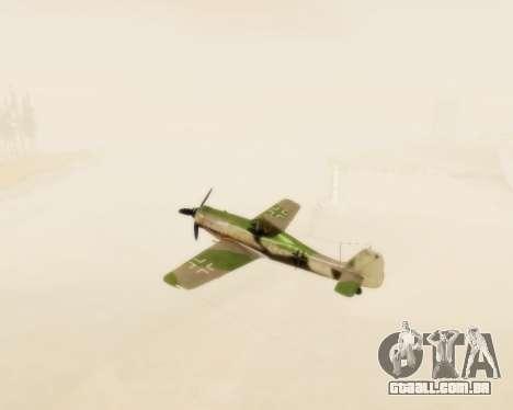 Focke-Wulf FW-190 D12 para GTA San Andreas vista interior