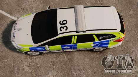 Ford Focus Estate Norfolk Constabulary [ELS] para GTA 4 vista direita