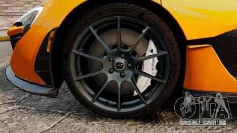 McLaren P1 2014 [EPM] para GTA 4 vista de volta