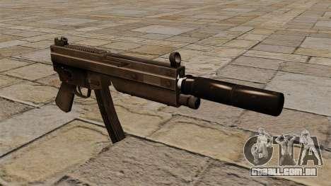 A pistola-metralhadora MP5 com silenciador para GTA 4