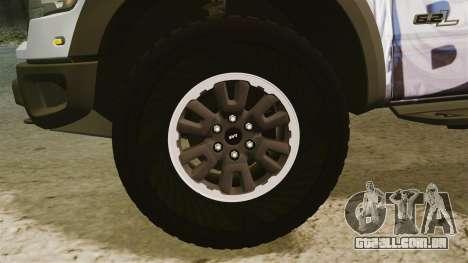 Ford F-150 SVT Raptor 2011 ECOBoost para GTA 4 vista de volta