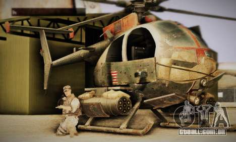 Spec Ops The Line AH6 para GTA San Andreas esquerda vista