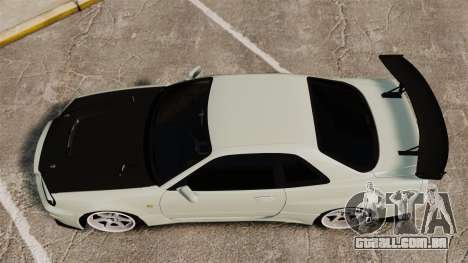 Nissan Skyline GT-R V-Spec II Mk.X [R34] para GTA 4 vista direita