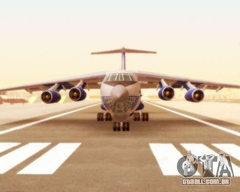 Il-76td forma de seda para GTA San Andreas esquerda vista