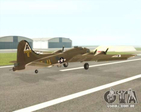 B-17G para GTA San Andreas vista direita