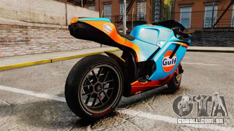 Ducati 848 Gulf para GTA 4 esquerda vista