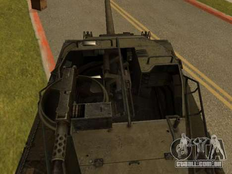 M18-Hellcat para GTA San Andreas vista traseira