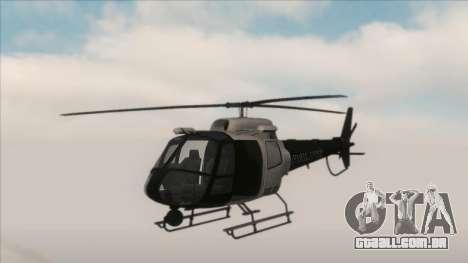 Police Maverick from GTA V para GTA San Andreas esquerda vista