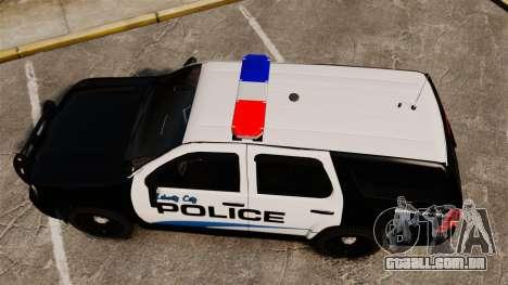 Chevrolet Tahoe Police [ELS] para GTA 4 vista direita