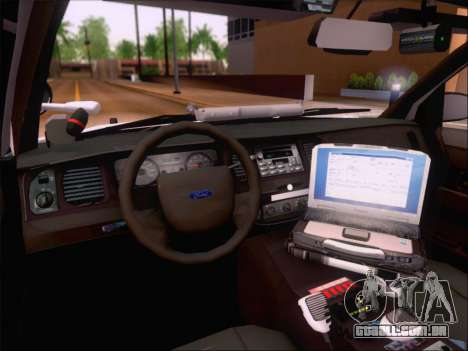 Ford Crown Victoria San Andreas State Trooper para GTA San Andreas vista superior