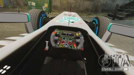 Mercedes AMG F1 W04 v4 para GTA 4 vista interior
