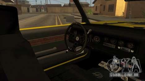 Sabre HD from GTA 3 para GTA San Andreas vista traseira