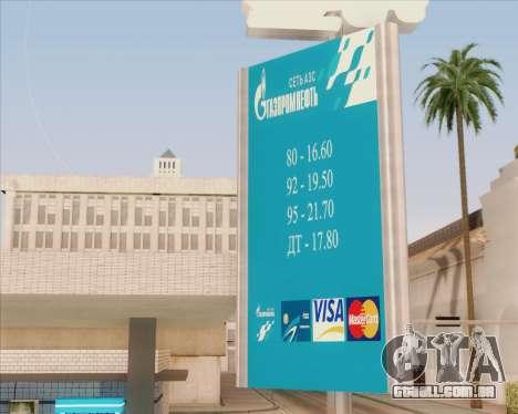 AZS Gazprom Neft para GTA San Andreas segunda tela