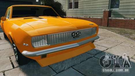 Chevrolet Camaro SS 1967 para GTA 4 vista direita