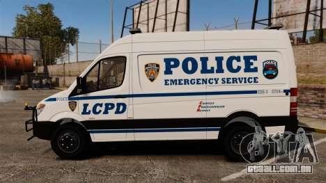 Mercedes-Benz Sprinter 3500 Emergency Response para GTA 4 esquerda vista