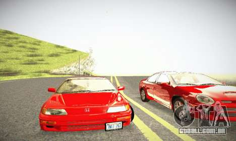 Honda CRX - Stock para GTA San Andreas vista interior