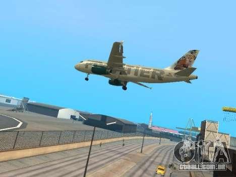 Airbus A319-111 Frontier Airlines Red Foxy para GTA San Andreas vista traseira