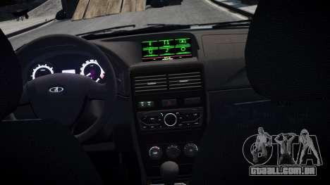 2170 De Lada Priora Restajl para GTA 4 esquerda vista