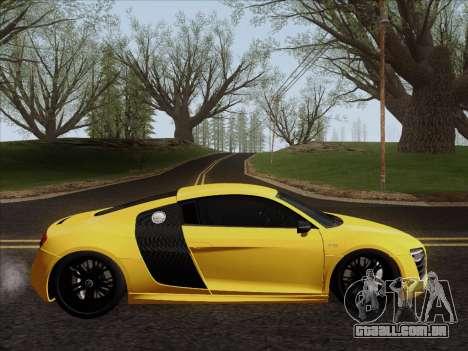 Audi R8 V10 Plus para GTA San Andreas traseira esquerda vista