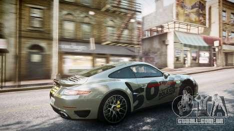 Porsche 911 Turbo 2014 para GTA 4 vista superior