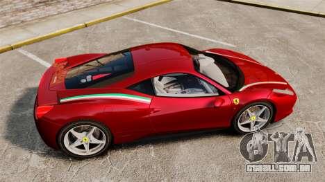 Ferrari 458 Italia 2010 Novitec para GTA 4 esquerda vista