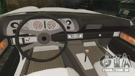 Chevrolet Camaro Z28 1970 v1.1 para GTA 4 vista interior