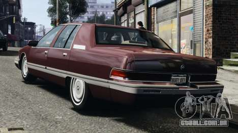 Buick Roadmaster 1996 para GTA 4 vista direita