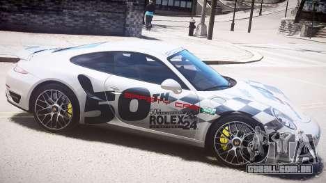 Porsche 911 Turbo 2014 para GTA 4 esquerda vista
