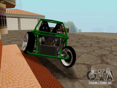 Nocturnal Motorsports Coyote para GTA San Andreas vista traseira
