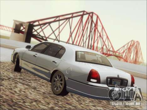 Lincoln Town Car 2010 para GTA San Andreas vista inferior