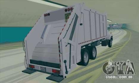 GMC C550 Topkick Trashmaster para GTA San Andreas traseira esquerda vista