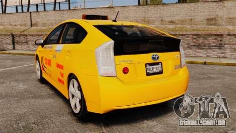 Toyota Prius 2011 Adelaide Taxi para GTA 4 traseira esquerda vista