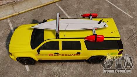 GTA V Declasse Granger 3500LX Lifeguard para GTA 4 vista direita