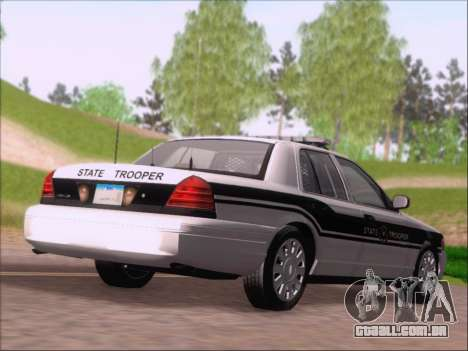 Ford Crown Victoria San Andreas State Trooper para GTA San Andreas vista direita