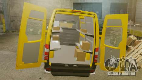 Mercedes-Benz Sprinter 2500 Delivery Van 2011 para GTA 4 vista interior