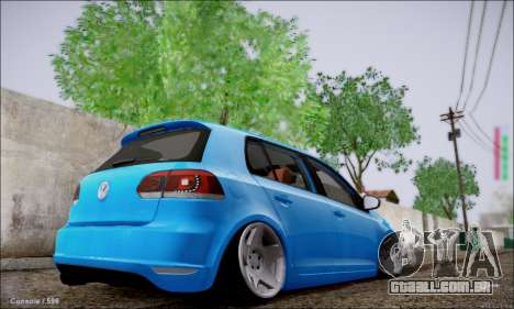 Volkswagen mk6 Stance Work para GTA San Andreas traseira esquerda vista
