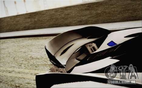 McLaren P1 2014 v2 para vista lateral GTA San Andreas