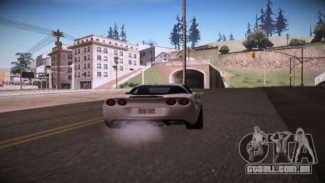 Chevrolet Corvette para GTA San Andreas traseira esquerda vista