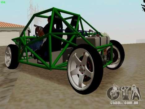 Nocturnal Motorsports Coyote para GTA San Andreas traseira esquerda vista