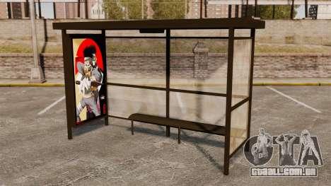Paragens de autocarro Naruto para GTA 4 por diante tela