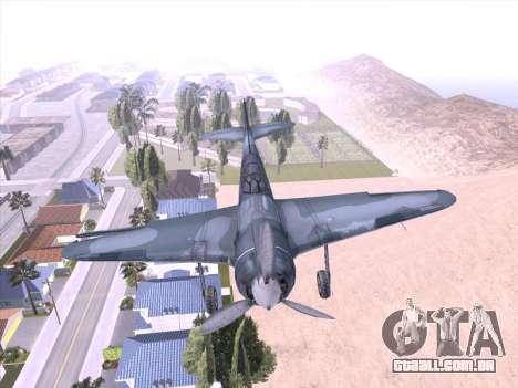 LA-5 para GTA San Andreas esquerda vista