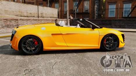 Audi R8 GT Spyder para GTA 4 esquerda vista