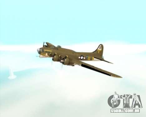 B-17G para vista lateral GTA San Andreas