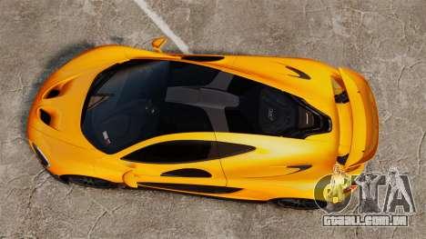 McLaren P1 2014 [EPM] para GTA 4 vista direita