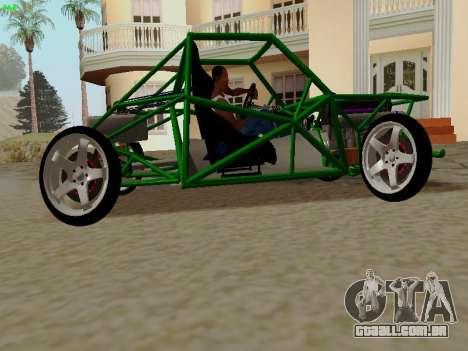 Nocturnal Motorsports Coyote para GTA San Andreas esquerda vista