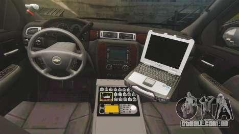 Chevrolet Tahoe Police [ELS] para GTA 4 vista de volta