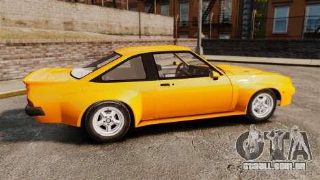 Opel Manta para GTA 4 esquerda vista